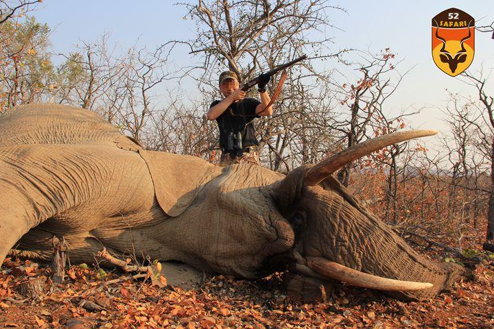 中国人国外打猎