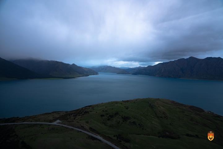 新西兰直升飞机风景