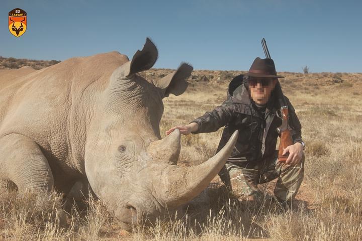 非洲白犀狩猎