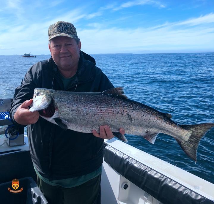 阿拉斯加三文鱼海钓