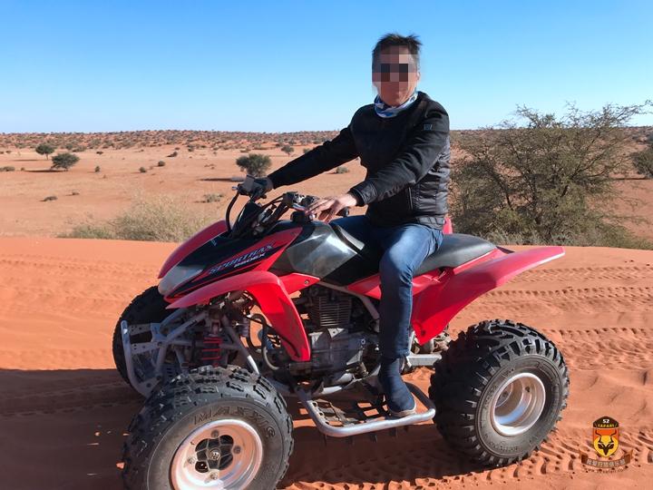 纳米比亚玩ATV