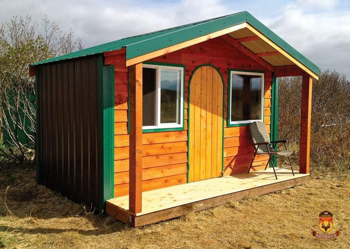 阿拉斯加狩猎小木头房子